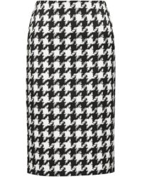 HUGO - Midi-length Pencil Skirt With Oversized Houndstooth Check Pattern - Lyst