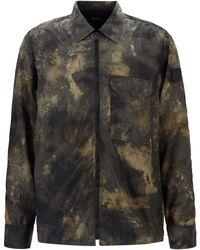 BOSS by HUGO BOSS Overshirt mit Reißverschluss und Camouflage-Print - Mehrfarbig