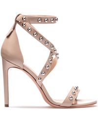 HUGO - Strappy Leather Sandals With Stud Embellishments - Lyst