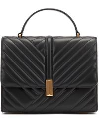 BOSS Quilted-leather Handbag With Signature Hardware - Black