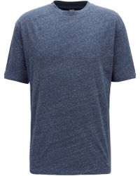 BOSS - Relaxed-fit T-shirt With Hybrid Details - Lyst