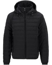 BOSS by Hugo Boss Regular-fit Down Jacket In Ottoman Fabric - Black