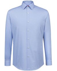 HUGO - Slim-fit Shirt In Easy-iron Vichy-check Cotton - Lyst
