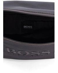 BOSS by HUGO BOSS Heuptasje Van Gestructureerd Technisch Materiaal Met Ton-sur-ton Logo - Grijs