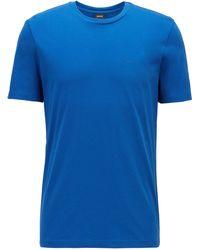 BOSS by Hugo Boss - Crew-neck T-shirt In Yarn-dyed Single Jersey - Lyst
