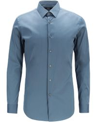 BOSS - Extra-slim-fit Shirt In Stretch Poplin - Lyst