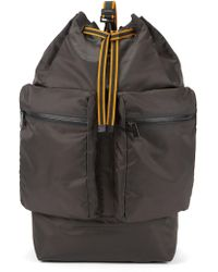 BOSS - Fashion Show Capsule Oversize Technical Backpack With Leather Trims - Lyst