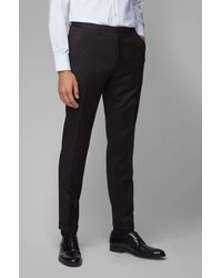 BOSS by Hugo Boss Pantalon Extra Slim Fit en laine vierge - Noir