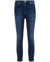 HUGO Lou Skinny-fit Jeans In Stretch Denim With Zipped Hems - Blue