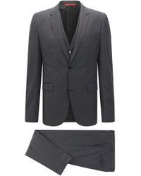 HUGO - 'adwart/wilard/hets' | Slim Fit, Italian Super 120 Virgin Wool 3-piece Suit - Lyst