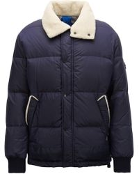 BOSS - Water-repellent Down-filled Jacket With Teddy-fabric Collar - Lyst
