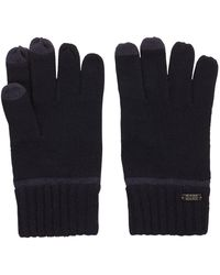 BOSS - Knitted Gloves With Touch Tech Tips - Lyst