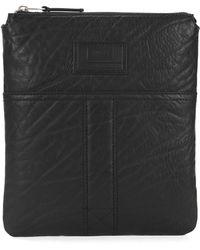 BOSS Orange - Zip-top Envelope Bag In Grained Leather - Lyst