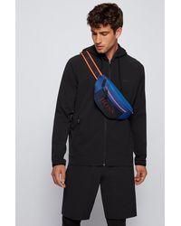 BOSS by HUGO BOSS Logo Belt Bag In Nylon And Mesh - Blue