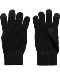 BOSS by HUGO BOSS Knitted Gloves With Tech-touch Fingertips - Black