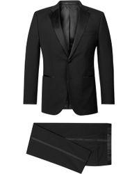 BOSS Virgin Wool Tuxedo, Regular Fit | Stars/glamour - Black