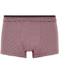 BOSS by HUGO BOSS Calzoncillos bóxer a rayas en punto elástico con cintura a capas - Rojo