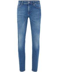BOSS Slim-fit Jeans In Mid-blue Denim