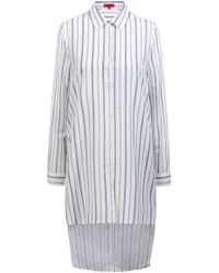HUGO - Longline Striped Blouse With Stepped Back Hem - Lyst