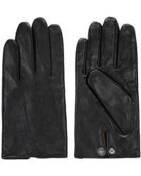 HUGO Handschoenen Van Nappaleer Met Voering Van Een Wolmix - Zwart