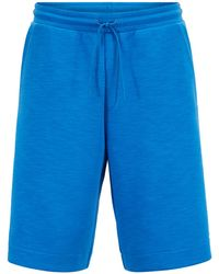 BOSS - Relaxed-fit Shorts In Stretch-cotton-blend Slub - Lyst