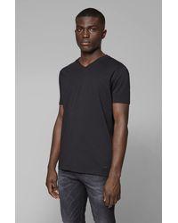 BOSS by Hugo Boss T-shirt Regular Fit en jersey de coton teint en pièce - Noir