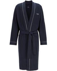 BOSS by Hugo Boss Cotton Dressing Gown: 'kimono' - Blue