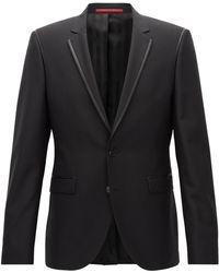 HUGO - Extra-slim-fit Jacket In A Wool Blend - Lyst