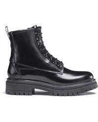 HUGO Alpha Lace Up Boot - Black