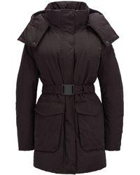 BOSS - Water-repellent Down Coat With Detachable Hood - Lyst