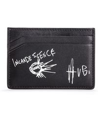 HUGO - Graphic Print Leather Card Holder | Tribute P S Card - Lyst