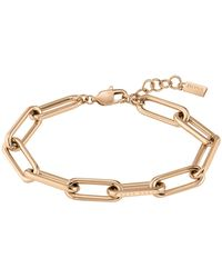 BOSS by HUGO BOSS Gold-effect Bracelet With Tubular Links - Metallic