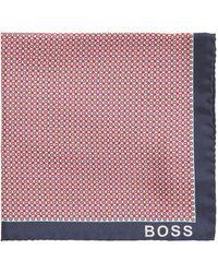 BOSS by HUGO BOSS In Italië Vervaardigde Pochet Met Print En Rolzoom - Meerkleurig