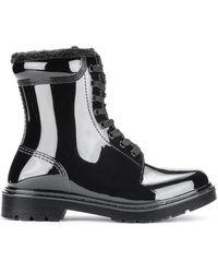 HUGO Boots à lacets avec doublure en fourrure synthétique - Noir