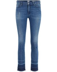 BOSS Skinny-fit Jeans In Red-cast Mid-blue Denim