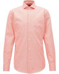BOSS - Puppytooth Cotton Dress Shirt, Slim Fit | Jason - Lyst