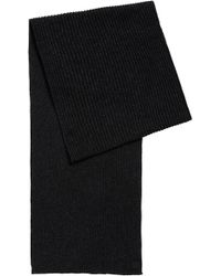 BOSS - Ribbed Scarf In A Mouliné Cotton Blend - Lyst