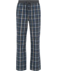 BOSS - Pyjama Trousers In Checked Cotton - Lyst