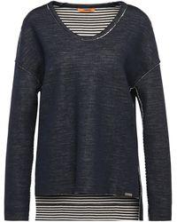 BOSS Orange - Sweatshirt In Mottled Cotton Blend With Contrasting Inner Layer: 'tareverse' - Lyst