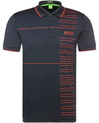 BOSS Green - Regular-fit Functional Polo Shirt In A Stretchy Fabric Blend: 'paddy Pro 2' - Lyst