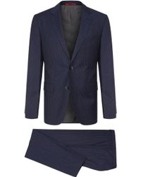 HUGO - Finely Striped Regular-fit Suit In New Wool: 'c-jeys1/c-shaft1' - Lyst