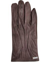 BOSS Orange - Leather Gloves With Decorative Stitching: 'gans2' - Lyst