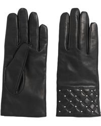 HUGO - Leather Gloves With Decorative Stud Trim: 'dh 70' - Lyst