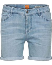 BOSS Orange - Relaxed Jeans Shorts In Stretchy Cotton Blend: 'orange J70 Hershey' - Lyst