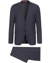 HUGO - Slim-fit Suit In New Wool With Topstitching: 'ardo/hemarhm' - Lyst
