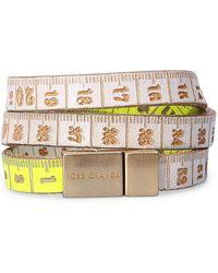BOSS Orange | 2-tone Wrap Bracelet In Embossed Leather: 'mancy' | Lyst