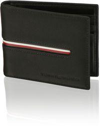 Tommy Hilfiger Th Downtown Mini Cc Wallet Clip - Schwarz