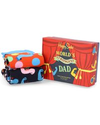 Happy Socks Father'S Day Gift Set 2Er - Rot