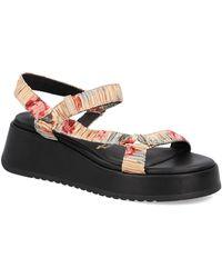 Tamaris Textil Sandale - Natur