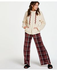 Hunkemöller Pyjamabroek Velours - Rood